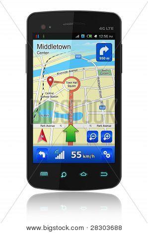 Smartphone com GPS de navegação