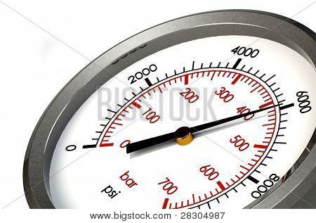 Calibrador de presión 6000 Psi