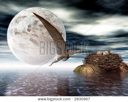 Ornithosaurian voador (pterodáctilo)