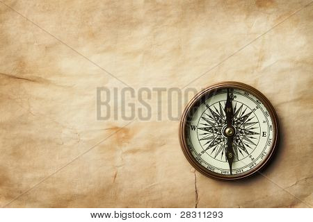 Compass at Old Paper