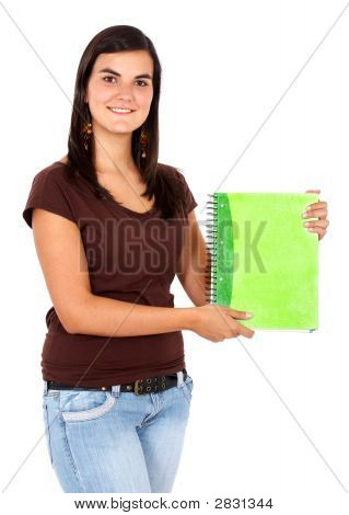 Student With A Notebook