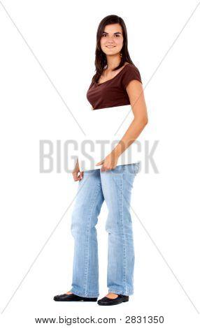 Mujer casual - añadir Banner