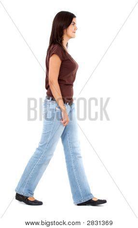 Casual Woman Walking