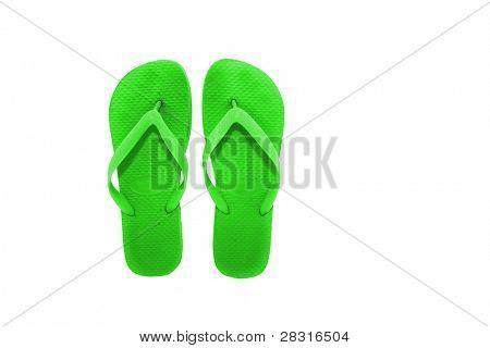 green flip-flops