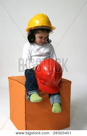 future engineer girl, childhood and business concept