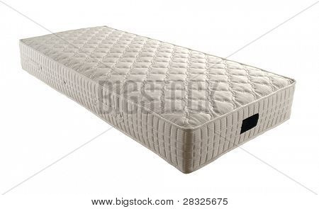 single mattress isolated on white