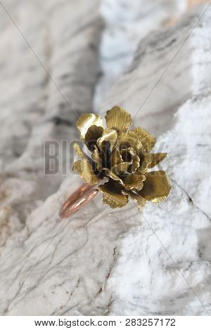 Fashioned Cooperbrass Ring On The