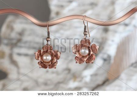 Vintage Cooper Earrings In The