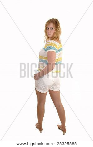 Girl Looking Back.
