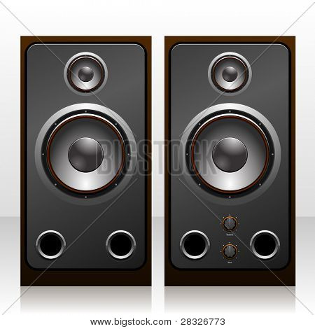 Isolated speakers. Vector Illustration