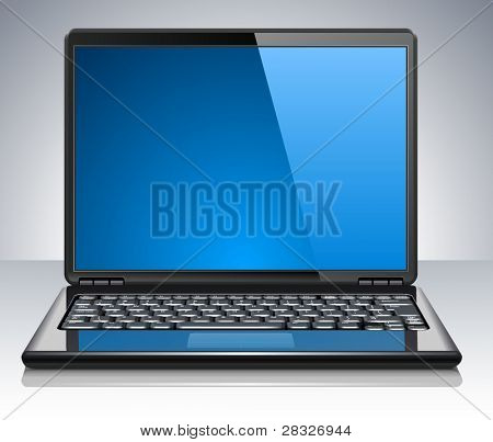 Modern laptop. Vector Illustration