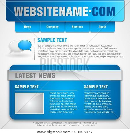 Website template. Vector Illustration