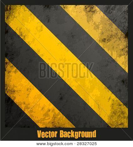 Textura de rayas Grungy peligro. Ilustración de Vector