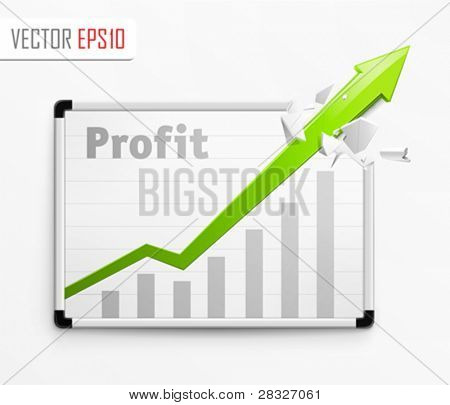 Success graphic. Vector Illustration