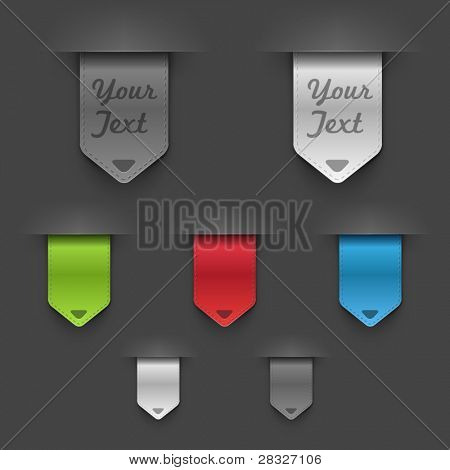 Stylish bookmarks. Vector