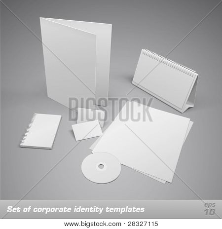 Set of corporate identity templates. Vector illustration