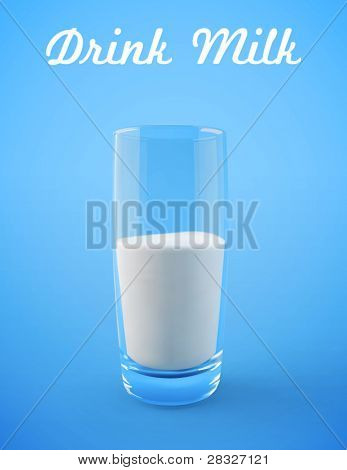 Glass of milk. Vector