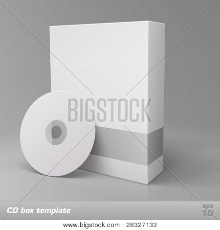 CD box template. Vector