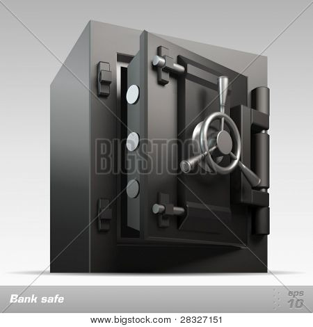 Bank safe. Vector illustration