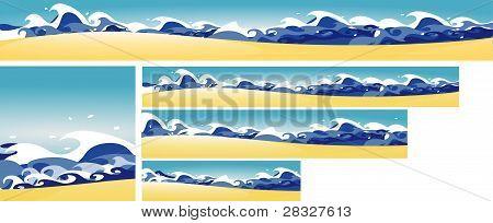 5 Banners mediterráneas