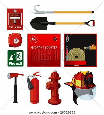 Set of firefighting equipment