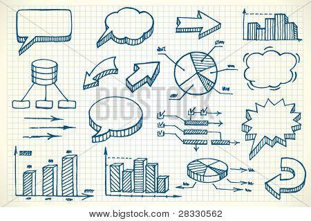 Hand gezeichnete Finanzen Abbildung