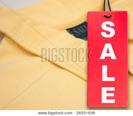 Sale Tag And Polo Shirt