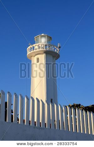 new lighthouse of Puerto Morelos Mayan Riviera in mexico