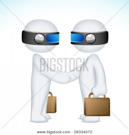 illustration of 3d man in vector fully scalable holding stop sign board