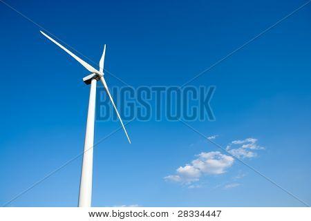 aerogenerator windmill in blue sky background
