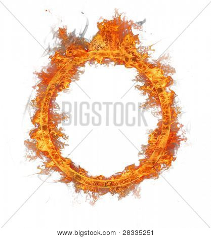 Fire ring isolated on white background