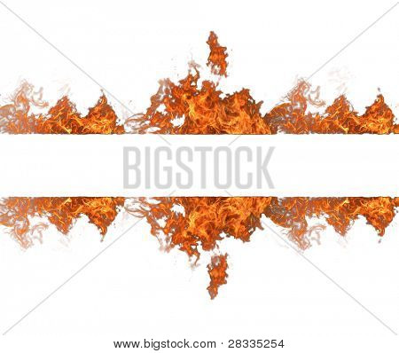 Fire stripe isolated on white background