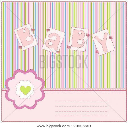 greeting card to mark the arrival of a baby