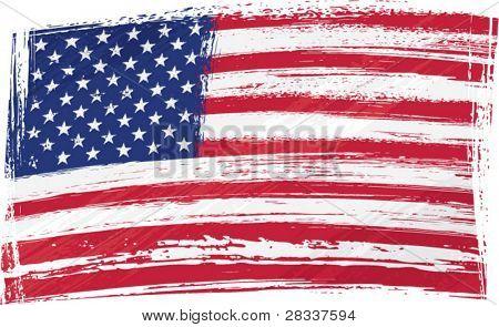 Bandeira do EUA grunge