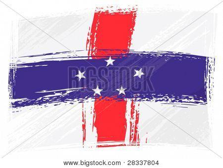 Bandera de Antillas Holandesas de Grunge