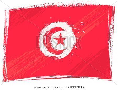 Grunge Tunisia flag