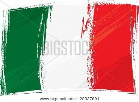 Bandeira de Itália de grunge