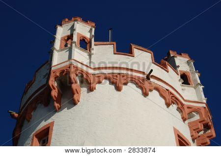 Castle Tower In Rudescheim, Germany