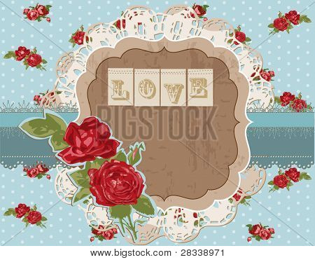 Scrapbook Design Elements - Vintage Flowers Scrapbook Page in vector