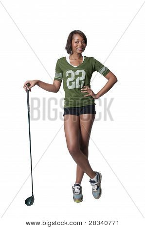 Black Woman Golfer
