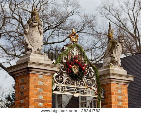 Entrance To Governors Palace In Williamsburg