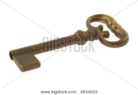 Gilded Antique Key