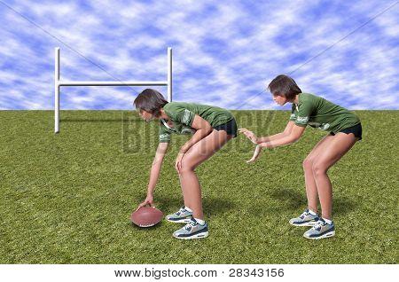 Black Woman Football Player