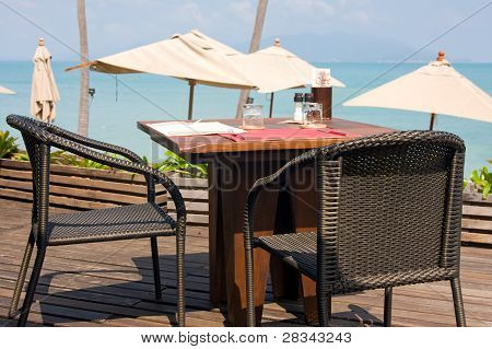 Idyllic Cafe Restaurant By The Sea