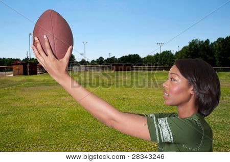 Black Woman Football Player