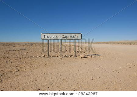 Tropic of capricorn sign