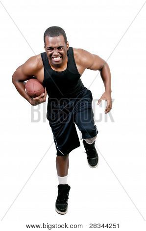 Black Man Playing Football