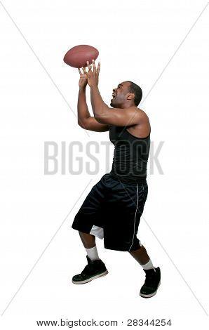 Hombre negro jugando fútbol