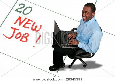 A Man With A New Job