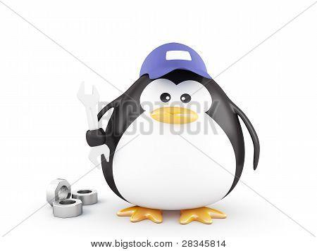 Fat Mechanic Penguin
